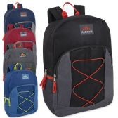 24 of Trailmaker 17 Inch Bungee Backpack With Side Pocket - 5 Colors