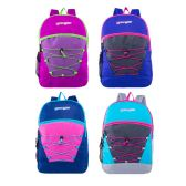 "24 of 17"" Classic Bungee Backpacks in 6 Assorted Colors"