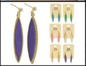 36 of Multi Color And Gold Tone Metal Dangle Earrings With Drop Accents