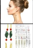 36 of Tri Tone And Multi Color Metal Dangle Earrings With Tassel Accents