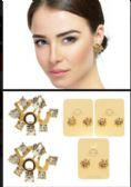 36 of YOU Stud Earrings With Crystal Accents Gold Tone And Multi Color