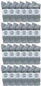 24 of Yacht & Smith Wholesale Bulk Womens Crew Socks, Cotton Sport Athletic Socks - Gray - 24 Packs