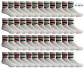 48 of Yacht & Smith Men's King Size Premium Cotton Sport Ankle Socks Size 13-16 With Stripes