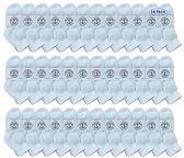 36 of Yacht & Smith Wholesale Bulk Kids Mid Ankle Socks, Cotton Sport Athletic Ankle Socks - White - 36 Packs