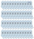 48 of Yacht & Smith Wholesale Bulk Kids Mid Ankle Socks, Cotton Sport Athletic Ankle Socks - White - 48 Packs