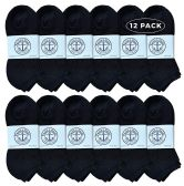 12 of Yacht & Smith Wholesale Bulk Womens No Show Ankle Socks, Cotton Sport Athletic Socks - Black - 12 Packs