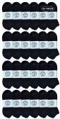 24 of Yacht & Smith Wholesale Bulk Womens No Show Ankle Socks, Cotton Sport Athletic Socks - Black - 24 Packs