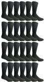 24 of Yacht & Smith Mens Fashion Designer Dress Socks, Cotton Blend, Textured Design Premium Knit (24 Pairs Black)