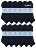 12 of Yacht & Smith Men's King Size Premium Cotton Sport Ankle Socks Size 13-16 Solid Black