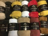 24 of 50 x 60 Fleece Throws Assorted Solid Colors