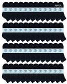 48 of Yacht & Smith Kids Cotton Quarter Ankle Socks In Black Size 4-6