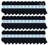 36 of Yacht & Smith Kids Cotton Quarter Ankle Socks In Black Size 4-6