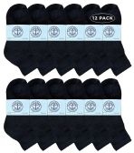 12 of Yacht & Smith Kids Cotton Quarter Ankle Socks In Black Size 4-6