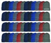 48 of Yacht & Smith Kids Winter Beanie Hat Assorted Colors Bulk Pack Warm Acrylic Cap
