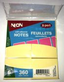 50 of 6 Pack Yellow 2x1/2 Sticky Notes, Post Notes