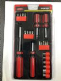24 of 22 Piece Multi Tool Screw Driver And Ratchet Set