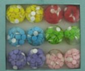 36 of Round solid acrylic ring with embedded circles assorted colors