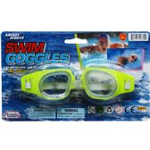 "96 of 6"" SWIMMING GOGGLES ON BLISTER CARD, 4 ASSRT CLRS"