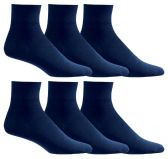 6 of Yacht & Smith Women's Diabetic Cotton Ankle Socks Soft Non-Binding Comfort Socks Size 9-11 Navy