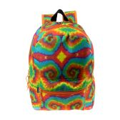 "24 of 17"" Wholesale Kids Classic Padded Backpacks in TIDYE Print"