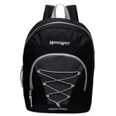 "24 of 17"" Classic Wholesale Bungee Backpacks in Black"