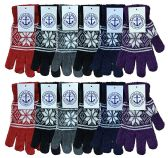 12 of Yacht & Smith Womens Warm And Stretchy Snow Flake Print Winter Gloves