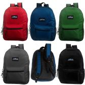 "24 of 17"" Classic Premium Backpacks in 5 Solid Colors"