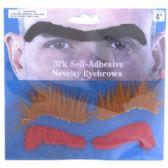 96 of 3 Assorted Novelty Eyebrows