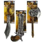 48 of Assorted Plastic Pirate Weapons with Tie On Card