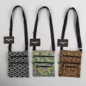 24 of 3 Assorted Design Polyester Shoulder Bags