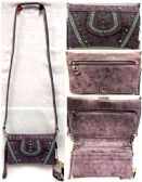 4 of Purple Rhinestone American Bling Clutch Purse