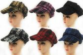 24 of Woman Newsboy Hats with Assorted colors