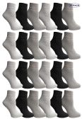 24 of Yacht & Smith Mens & Womens Ankle Wholesale Bulk Pack Athletic Sports Socks, by SOCKS'NBULK (Womens 9-11 (Shoe size 5-10), 24 Pairs Mix)