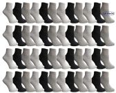 48 of Yacht & Smith Mens & Womens Ankle Wholesale Bulk Pack Athletic Sports Socks, by SOCKS'NBULK (Womens 9-11 (Shoe size 5-10), 48 Pairs Mix)