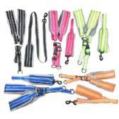 """24 of Nylon Padded Dog Harness with 48"""" Leash [Large]"""