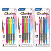 48 of BAZIC Carino Retractable Pen w/ Cushion Grip (4/Pack)