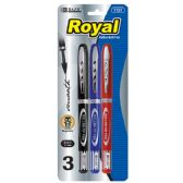 24 of BAZIC Royal Assorted Color Rollerball Pen (3/Pack)