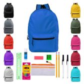 24 of Backpacks with 14 Piece School Supply Kits