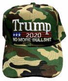 24 of Adjustable Baseball Hat Trump 2020 No More Bullshit