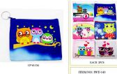 96 of Coin purse with Zipper assorted Owl design