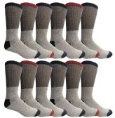12 of Yacht & Smith Mens Cotton Thermal Crew Socks, Cold Weather Boot Sock Shoe Size 8-12