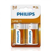 24 of Super Heavy Duty D Philips Battery