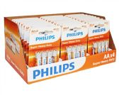 120 of Super Heavy Duty AA Philips Battery in PDQ Display Box