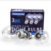 60 of 3 Pieces Clear Bulb 75 watts