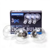 60 of 3 Pieces Clear Bulb 100 watts