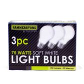 60 of 3 Pieces Soft White Bulb 75 watts
