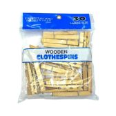 72 of Large Wooden Clothespins