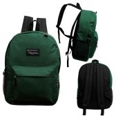 24 of 17 Inch Classic Bulk Green Backpacks