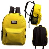 24 of 17 Inch Classic Bulk Mustard Backpacks