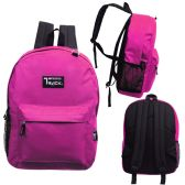 24 of 17 Inch Classic Bulk Backpacks In Fuchsia